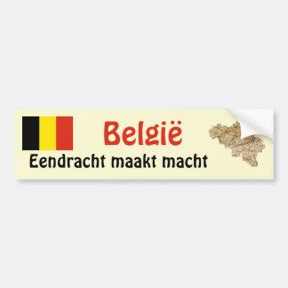 Drapeau de la Belgique et adhésif pour pare-chocs  Autocollant De Voiture