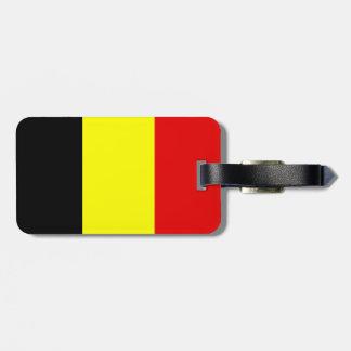Drapeau de la Belgique Étiquette Pour Bagages