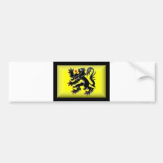 Drapeau de la Belgique-Flandre Autocollant Pour Voiture