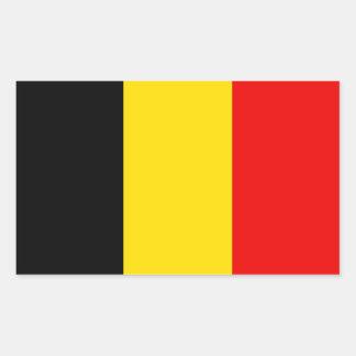 Drapeau de la Belgique Sticker Rectangulaire