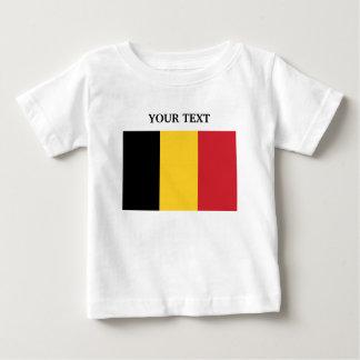 Drapeau de la Belgique T-shirt Pour Bébé