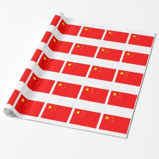 Drapeau de la Chine Papiers Cadeaux Noël