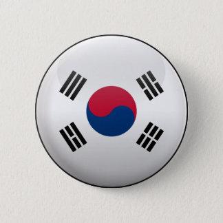 Drapeau de la Corée du Sud Badge Rond 5 Cm