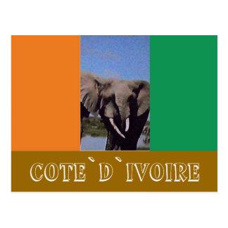 Drapeau de la Côte d'Ivoire Carte Postale