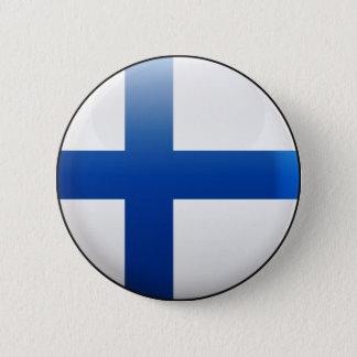 Drapeau de la Finlande Badge Rond 5 Cm