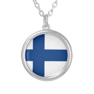 Drapeau de la Finlande Collier