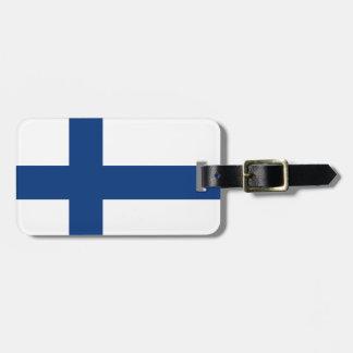Drapeau de la Finlande Étiquette À Bagage