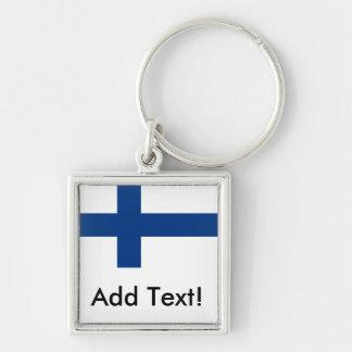 Drapeau de la Finlande Porte-clés