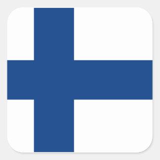 Drapeau de la Finlande Sticker Carré