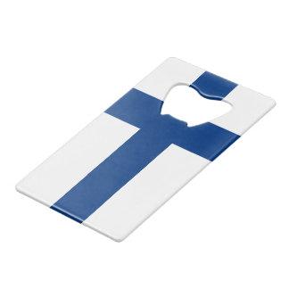 Drapeau de la Finlande Suomi croisé bleu