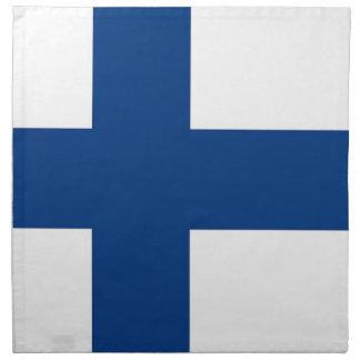 Drapeau de la Finlande sur la serviette de MoJo