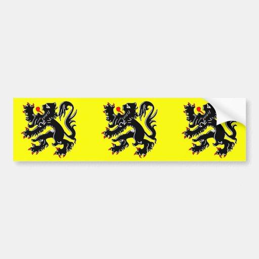 Drapeau de la Flandre, Belgique Adhésif Pour Voiture
