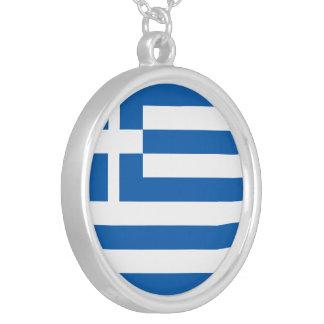 Drapeau de la Grèce Collier