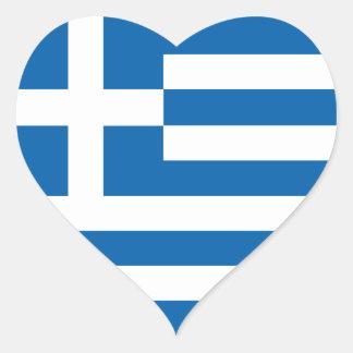Drapeau de la Grèce d'amour, autocollant grec