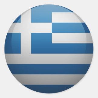 Drapeau de la Grèce Sticker Rond