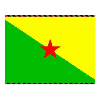 Drapeau de la Guyane française française Carte Postale