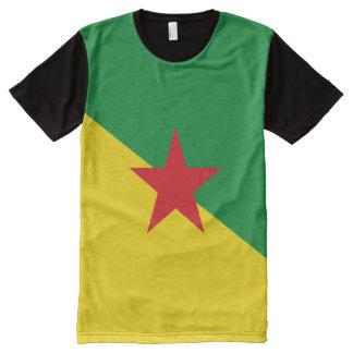 Drapeau de la Guyane française française T-shirt Tout Imprimé