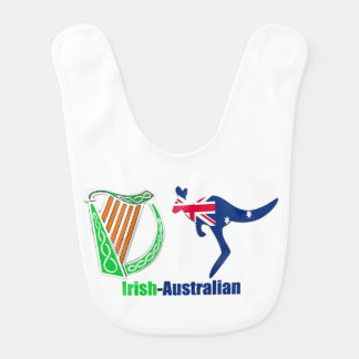 Drapeau de la Harpe-Australie d'Irlandais pour le Bavoir