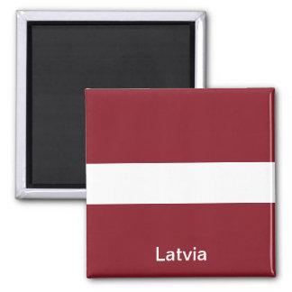 Drapeau de la Lettonie Magnet Carré