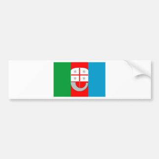 Drapeau de la Ligurie (Italie) Autocollant De Voiture