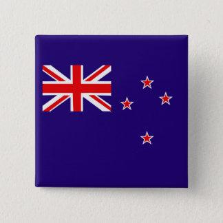 Drapeau de la Nouvelle Zélande Badge Carré 5 Cm
