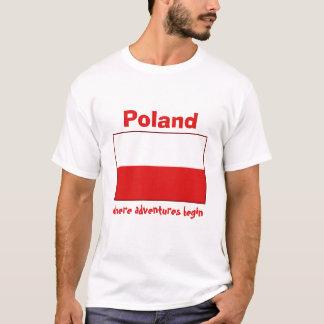 Drapeau de la Pologne + Carte + T-shirt des textes