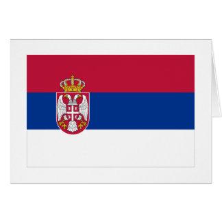 Drapeau de la Serbie Carte