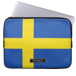 Drapeau de la Suède Housse Pour Ordinateur Portable