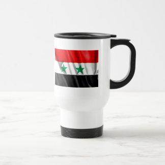 Drapeau de la Syrie tasse de voyage d'acier