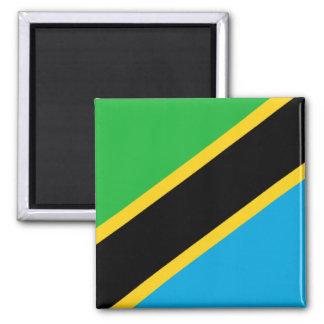 Drapeau de la Tanzanie Magnet Carré