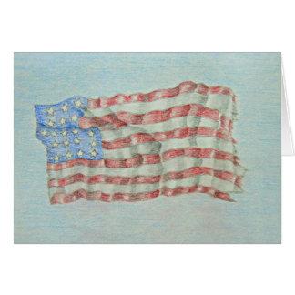 drapeau de l'Amérique Carte