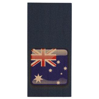Drapeau de l'Australie Clé USB 3.0 En Bois
