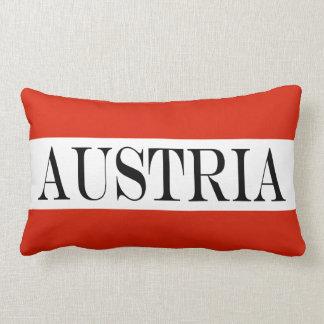 Drapeau de l'Autriche Coussin Décoratif
