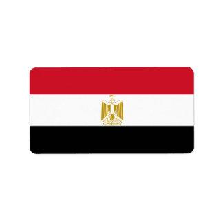Drapeau de l'Egypte - علممصر - drapeau égyptien Étiquette D'adresse
