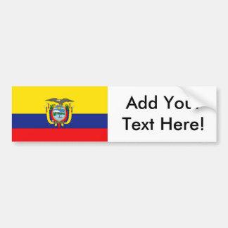 Drapeau de l'Equateur Autocollant De Voiture
