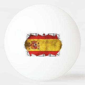 Drapeau de l'Espagne déchiré Balle De Ping Pong