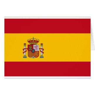 Drapeau de l'Espagne - le Bandera de España - Carte De Vœux
