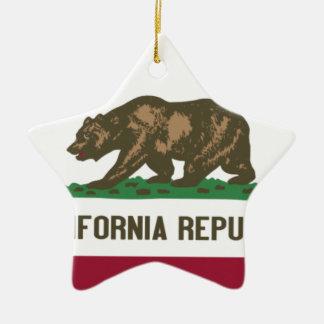 Drapeau de l'état Californien Ornement Étoile En Céramique