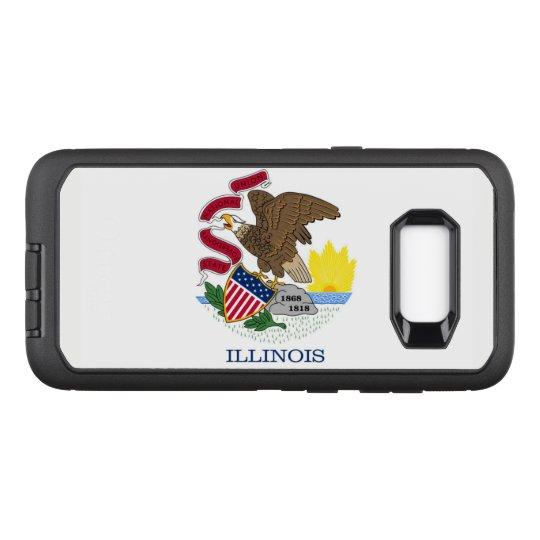 Drapeau de l'Illinois Coque Samsung Galaxy S8+ Par OtterBox Defender