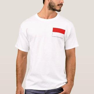 Drapeau de l'Indonésie et T-shirt de carte