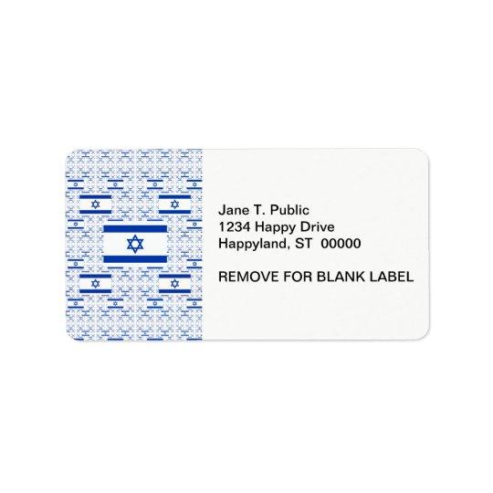 Drapeau de l'Israël - étoile de David - dans les Étiquettes D'adresse