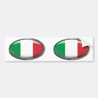 Drapeau de l'Italie dans l'ovale en verre Autocollant De Voiture