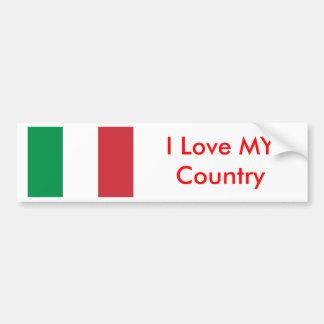 Drapeau de l'Italie l'amour de Zazzle I de MUSÉE M Adhésif Pour Voiture