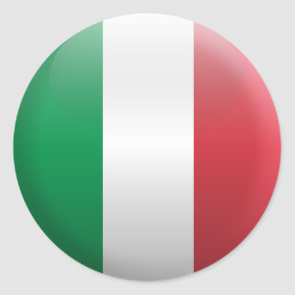 Drapeau de l'Italie Sticker Rond