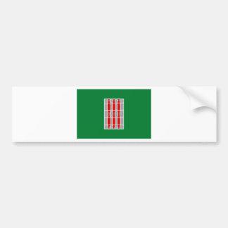 Drapeau de l'Ombrie (Italie) Autocollant De Voiture