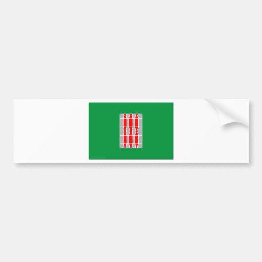 Drapeau de l'Ombrie (Italie) Autocollants Pour Voiture