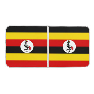 Drapeau de l'Ouganda Table Beerpong