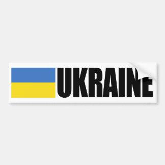 Drapeau de l'Ukraine Autocollant De Voiture