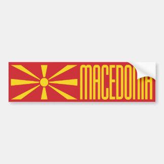 Drapeau de Macédoine Autocollant De Voiture