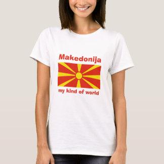 Drapeau de Macédoine + Carte + T-shirt des textes